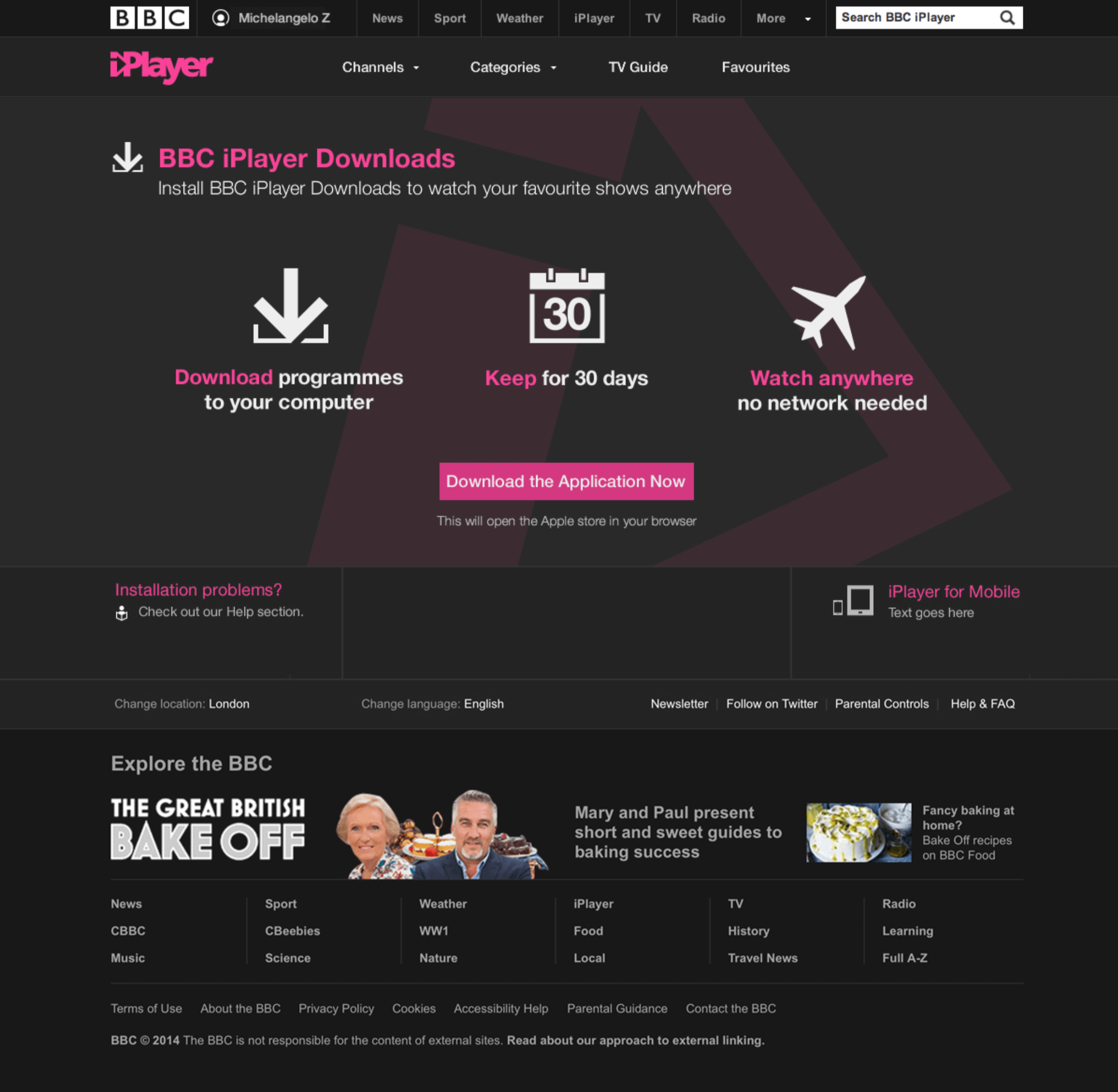 Bbc iplayer download manager.
